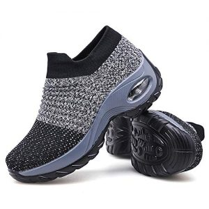 Women's Walking Shoes Sock Sneakers - Mesh Slip On Air Cushion Lady