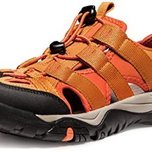 ATIKA Men's Sports Sandals Trail Outdoor Water Shoes 3Layer Toecap Series,All Terrain Orbital(m107) - Orange, 11