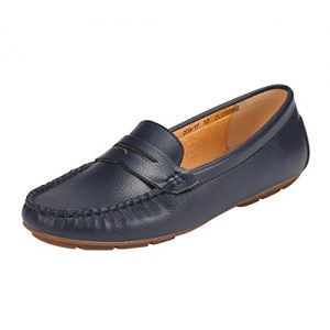 JENN ARDOR Penny Loafers for Women: Vegan Leather Slip-On