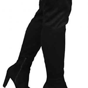 Wild Diva AMAYA-01 Women's Thigh High Stretch Boot - Trendy High Heel Shoe