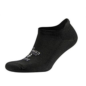 Balega Hidden Comfort No-Show Running Socks for Men and Women (1 Pair), Black, Large