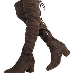DREAM PAIRS Women's New Portz Brown Over The Knee Thigh High