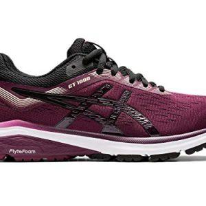 ASICS Women's GT-1000 7 Running Shoes, 9.5M, Roselle/Black