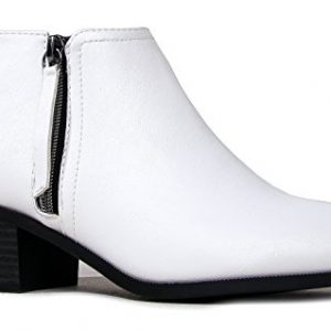 J. Adams Lexy Ankle Boot - Low Stacked Heel Closed Toe Casual