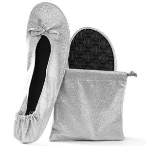 Women's Foldable Portable Travel Ballet Flat Roll Up Slipper Shoes
