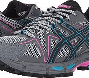 ASICS Womens Gel-Kahana 8 Running Shoe, Black/Island Blue/Pink Glow, 8 Medium US