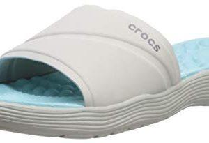 Crocs Women's Reviva Slide Sandal, Pearl White