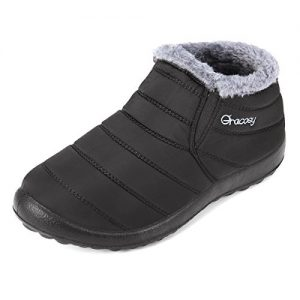 gracosy Warm Snow Boots, Winter Warm Ankle Boots