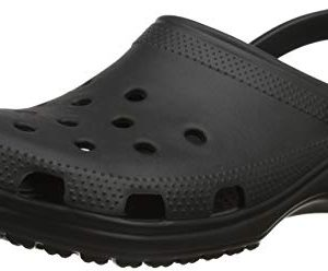 Crocs Classic Clog|Comfortable Slip On Casual Water Shoe, Black, 11 M US Women / 9 M US Men