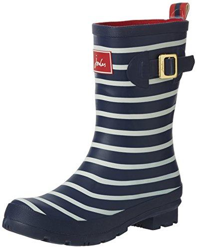 Joules Women's Molly Welly Rain Shoe, French Navy Stripe