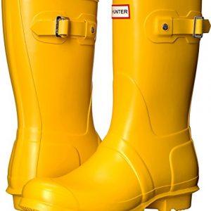 Hunter Womens Original Short Yellow 1 Rain Boot