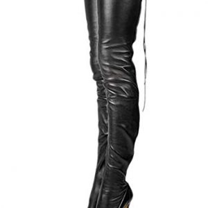 termarnoov 2018 Women Thin High Heel Thigh High Boots PU Leather