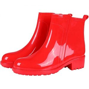 Women's Ankle Rain Boots Short Slip On Waterproof Outdoor