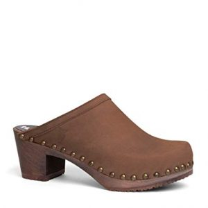 Sandgrens Swedish High Heel Wooden Clog Mules for Women