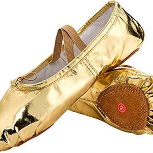 JOINFREE Girl's Women's Leather Ballet Flats Slippers Dancing Shoes