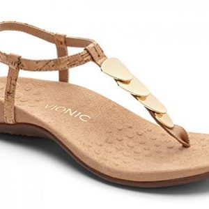 Vionic Women's Rest Miami Toe-Post Sandal Gold Cork