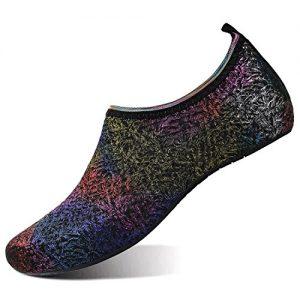 L-RUN Mens Womens Water Sports Shoes Barefoot Skin Swim Aqua Sock