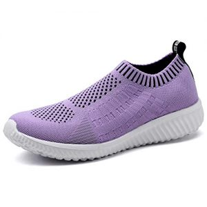 LANCROP Women's Comfortable Walking Shoes - Lightweight Mesh Slip