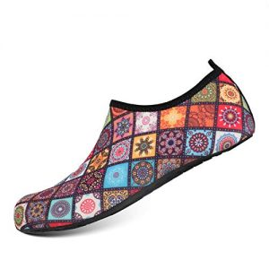 HEETA Water Sports Shoes for Women Men Quick Dry Aqua Socks