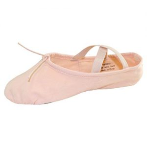 Danzcue Adult Split Sole Canvas Pink Ballet Slipper