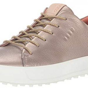 ECCO Women's Soft Low Hydromax Golf Shoe, Warm Grey/Metallic