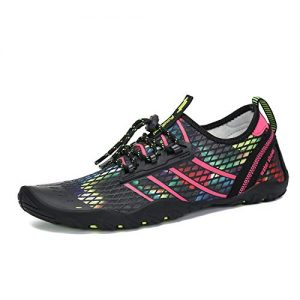 Unisex Water Shoes Quick-Dry Beach Swim Yoga River Colorful/Rosy