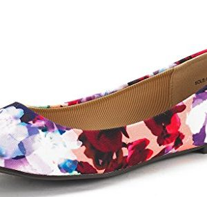 DREAM PAIRS Women's Sole-Simple Floral Ballerina Walking Flats Shoes