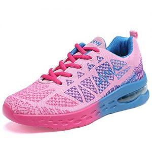 JARLIF Women's Road Running Sneakers Fashion Sport Air Fitness Workout Gym Jogging Walking Shoes Pink US9