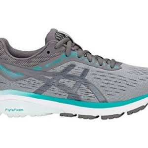 ASICS Women's 7 Running Shoes, 9M, Stone Grey/Carbon