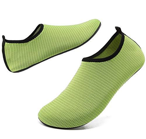 ANLUKE Womens Mens Water Shoes Barefoot Quick-Dry Aqua Socks ANLUKE Womens Mens Water Shoes Barefoot Quick-Dry Aqua Socks for Beach Swim Surf Water Sport (38/39, N Green).