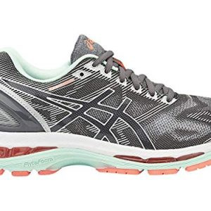 ASICS Women's Gel-Nimbus 19 Running Shoe, Carbon/White/Flash Coral