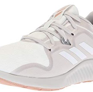 adidas Women's Edgebounce Mid Running Shoe, White/Grey/ash Pearl, 7.5 M US