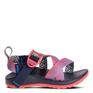 Chaco Girls' Z1 Ecotread Sport Sandal, Penny Coral