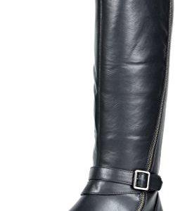 TOETOS Women's Donna Black Knee High Winter Riding Boots