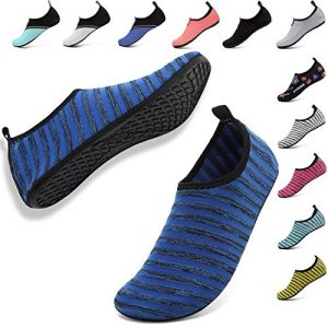 VIFUUR Unisex Quick Drying Aqua Water Shoes Pool Beach Yoga Exercise Shoes