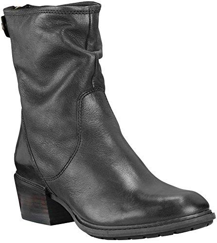 Timberland Women's Sutherlin Bay Mid Back Zip Boot Black Full