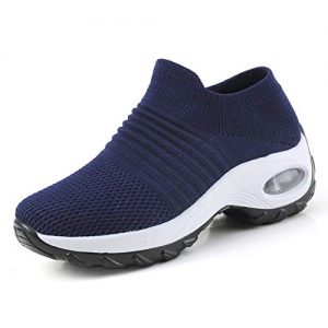 Women's Slip on Walking Shoes - Mesh Breathable Air Cushion Work Nursing Shoes