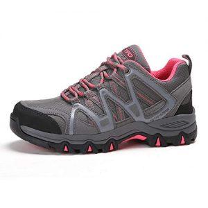 TFO Women's Lightweight Breathable Non-Slip Hiking Running Shoe Athletic Outdoor Walking Trekking Sneaker Gray 9