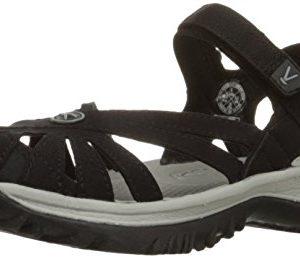 KEEN Women's Rose Sandal, Black/Neutral Gray
