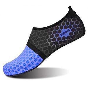 L-RUN Men Women Swim Shoes Water Shoes Outdoor Dot_Navy