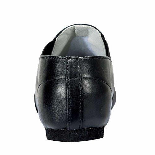 Dynadans Women's Leather Upper Slip-on Jazz Shoe Dynadans Women's Leather Upper Slip-on Jazz Shoe with Elastics Black 5.5M.