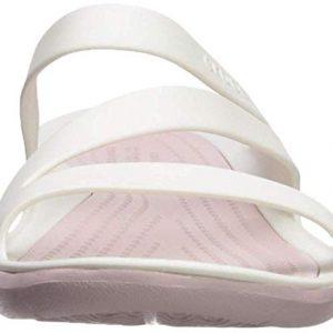 Crocs Women's Swiftwater Sandal Sport, white/rose dust
