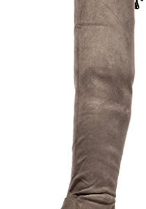 DREAM PAIRS Women's Leggy Khaki Faux Suede Over The Knee