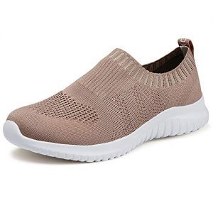 TIOSEBON Women's Walking Shoes Lightweight Mesh Slip-on- Breathable