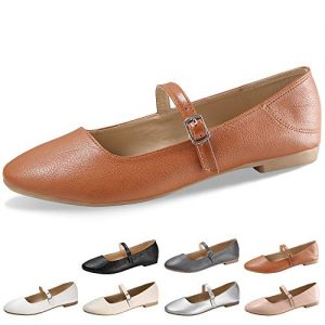 CINAK Flats Mary Jane Shoes Women's Casual Comfortable Walking
