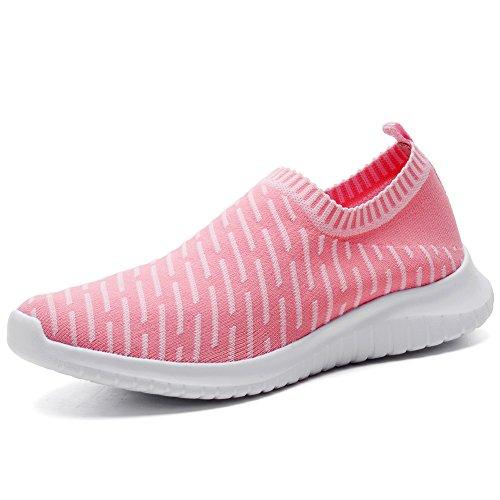 TIOSEBON Women's Walking Shoes Lightweight Mesh Slip-on