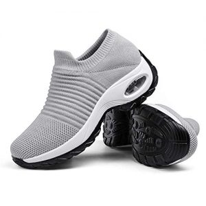 Women's Breathable Walking Tennis Shoes - Casual Slip on Sock Sneakers