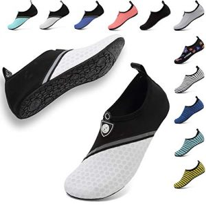 VIFUUR Unisex Quick Drying Aqua Water Shoes Pool Beach Yoga Exercise Shoes