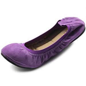 Ollio Women's Shoe Faux Suede Comfort Ballet Flat