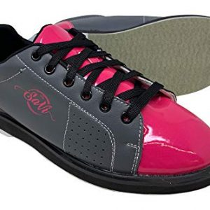 SaVi Bowling Women's Classic Pink/Grey Bowling Shoes